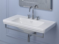 - Classic style rectangular wall-mounted washbasin CANOVA ROYAL 90 | Washbasin with towel rail - CERAMICA CATALANO