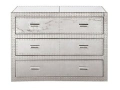 Aluminium chest of drawers VEGAS | Aluminium chest of drawers - KARE-DESIGN