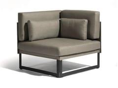 - Corner sectional fabric garden armchair SQUAT | Corner garden armchair - MANUTTI