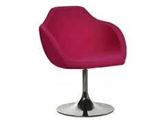 - Swivel upholstered fabric chair with armrests ARENA | Chair - Johanson Design