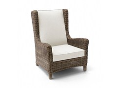 - High-back wingchair with armrests SAN DIEGO | Garden chair with high back - MANUTTI
