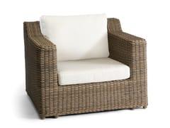- Wicker garden armchair SAN DIEGO | Garden armchair - MANUTTI