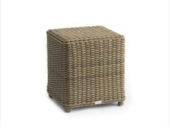 - Wicker garden pouf / garden side table SAN DIEGO | Square garden side table - MANUTTI