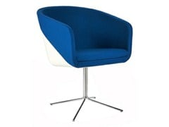 - Upholstered easy chair with 4-spoke base CABIN | Easy chair with 4-spoke base - Johanson Design