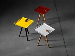 - Square wooden coffee table SERVOLINO - Miniforms