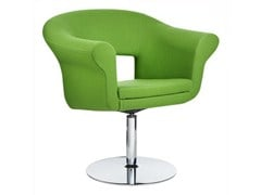 - Swivel guest chair with armrests CUBA | Swivel easy chair - Johanson Design
