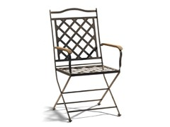 - Wrought iron garden chair with armrests ST. TROPEZ | Garden chair with armrests - MANUTTI