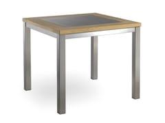 - Square steel garden table LUGANO | Square garden table - MANUTTI