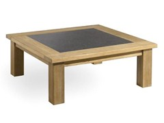 - Square teak garden side table MILANO | Square garden side table - MANUTTI