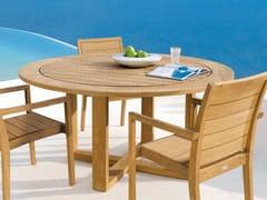 - Round teak garden table SIENA | Round garden table - MANUTTI