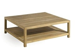 - Design Low Square teak garden side table SORENTO | Low garden side table - MANUTTI
