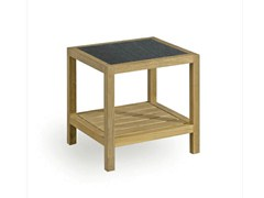 - Square teak garden side table SORENTO | Garden side table - MANUTTI
