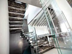 - Marble hanging stairs LUXO STONE - OFFICINE SANDRINI