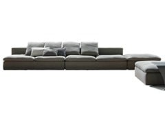 - Sectional sofa with removable cover LAND | Sectional sofa - Bonaldo