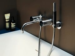 - 3 hole bathtub tap with hand shower SAVOIR | Bathtub tap - ZUCCHETTI