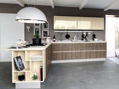 - Wooden fitted kitchen without handles ESSENZA | Kitchen - Cucine Lube