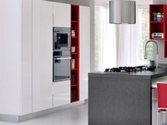 - Wooden fitted kitchen without handles ESSENZA | Kitchen with island - Cucine Lube