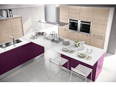 Wooden fitted kitchen MARTINA | Kitchen with handles - Cucine Lube