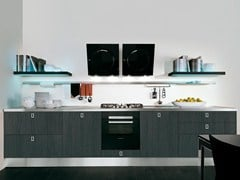 Wooden fitted kitchen with handles MARTINA | Kitchen - Cucine Lube