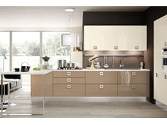 Fitted kitchen with handles MARTINA | Kitchen - Cucine Lube
