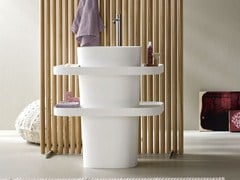 - Freestanding oval Corian® washbasin FONTE | Freestanding washbasin - Rexa Design
