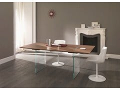- Design rectangular wooden table TAVOLANTE - T.D. Tonelli Design