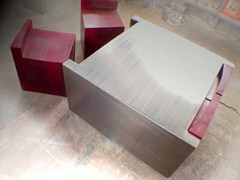 - Square steel coffee table LITTLE CONNECT - ICI ET LÀ