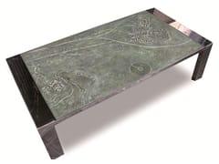 - Rectangular stainless steel coffee table PAISAJES DE LA MEMORIA III - ICI ET LÀ