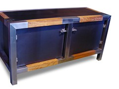 - Industrial style steel sideboard with doors CHINA GIRL | Industrial style sideboard - ICI ET LÀ