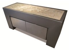 - Design stainless steel sideboard with doors KING TUT - ICI ET LÀ