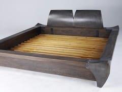 - Wooden double bed OAK FRAME - ICI ET LÀ