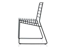 - Stackable steel chair PARK - B-LINE