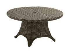 - Round wicker garden table HAVANA | Round garden table - Gloster