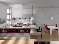 Cucina con maniglie integrate