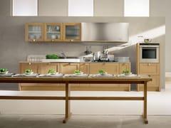 Cucina lineare in rovere