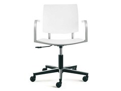 - Task chair with 5-Spoke base with casters BIO-L | Task chair with armrests - ENEA