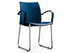- Sled base chair with armrests GLOBAL | Sled base chair - ENEA