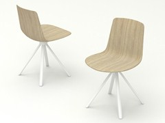 - Trestle-based wooden chair SPIN | Wooden chair - ENEA