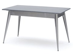 - Lacquered rectangular steel table 55 | Rectangular table - Tolix Steel Design