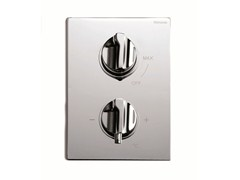 - 2 hole chrome-plated thermostatic shower mixer TETRIS | 2 hole thermostatic shower mixer - RUBINETTERIE RITMONIO