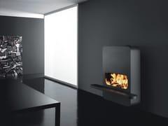 - Wall-mounted steel fireplace WALL_B | Wood-burning fireplace - ANTRAX IT radiators & fireplaces