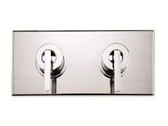 - 2 hole chrome-plated shower tap with plate WATERBLADE J | 2 hole shower tap - RUBINETTERIE RITMONIO
