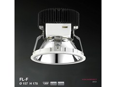 Faretto a LED da incasso FL-F ROUND VERSION Ø157 H178 | Faretto - METALMEK ILLUMINAZIONE