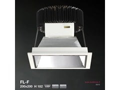 Faretto a LED da incasso FL-F SQUARE VERSION 200X200 H182 | Faretto - METALMEK ILLUMINAZIONE