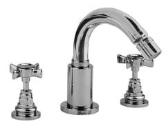 - 3 hole bidet tap with Swarovski® crystals G5 CRYSTAL | Bidet tap with swivel spout - Giulini G. Rubinetteria