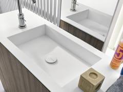 - Rectangular undermount Corian® washbasin CUBE - MAKRO