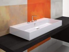 - Rectangular ceramic washbasin PREMIUM 100 | Washbasin - CERAMICA CATALANO