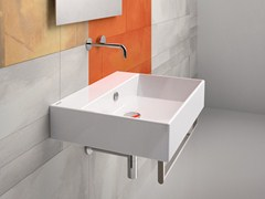 - Rectangular wall-mounted ceramic washbasin PREMIUM 60 | Washbasin - CERAMICA CATALANO