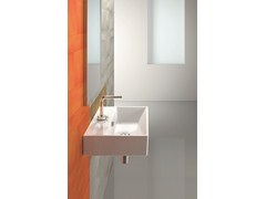 - Rectangular wall-mounted ceramic washbasin PREMIUM 55 | Washbasin - CERAMICA CATALANO