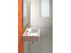 - Rectangular wall-mounted ceramic washbasin PREMIUM 55 | Washbasin - CERAMICA CATALANO